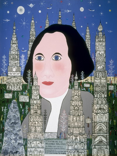 Howard Finster - George Washington in Another World