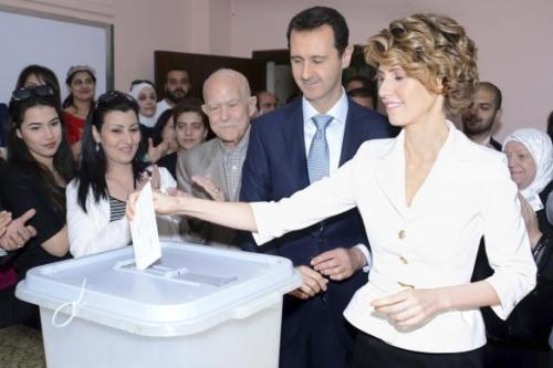 Syrian President Assad Votes