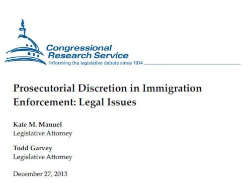 CRS - Prosecutorial Discretion in Immigration