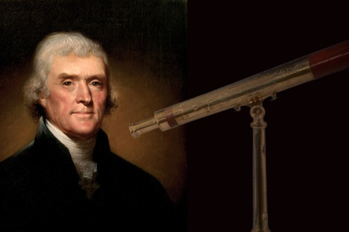 Thomas Jefferson with Telescope