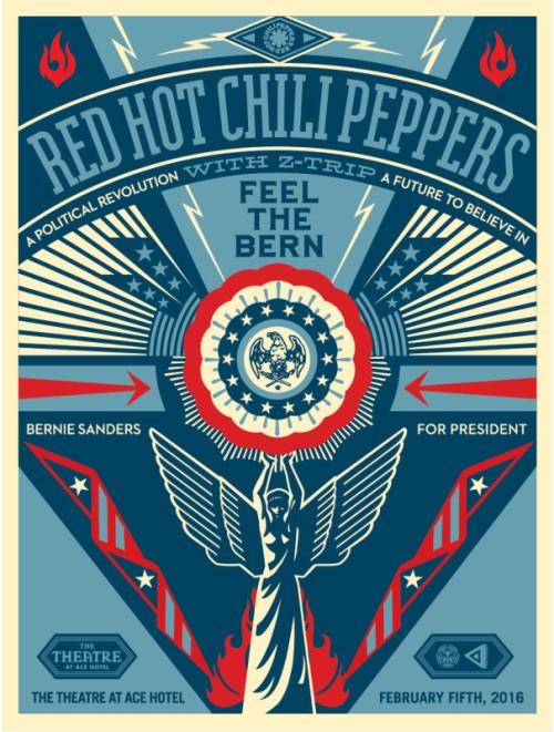 Shepard Fairey - Bernie Sanders Concert
