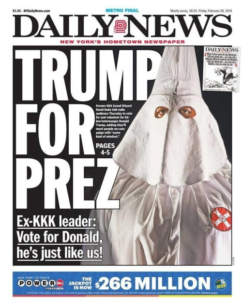 New York Daily News - Trump for Prez