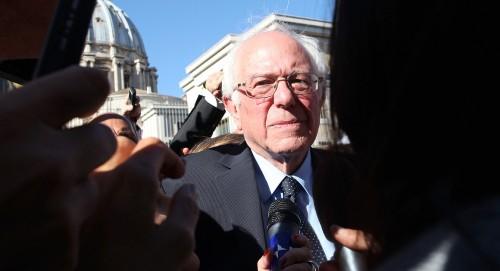 Bernie Sanders at the Vatican